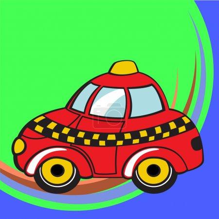 红色出租车矢量图
