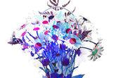 Sfondo fiore astratto. orhid e camomilla