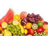 Obrovská skupina čerstvé zeleniny a ovoce