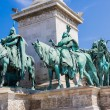 Постер, плакат: Hungary Budapest Heroes Square in the summer on a sunny day