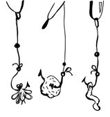 Options fishing bait for float rods Vector illustration