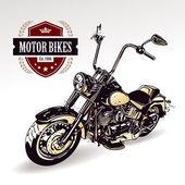 Motocykl izolovaných na bílém. vektorové ilustrace