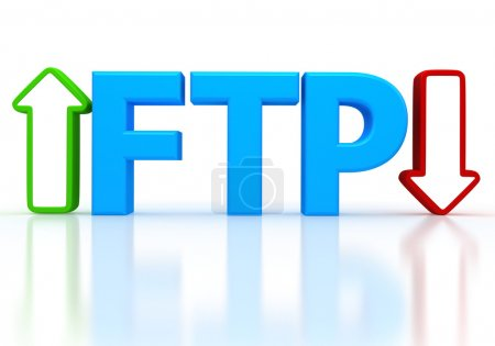 Постер, плакат: Illustration of FTP File transfer Protocol , холст на подрамнике