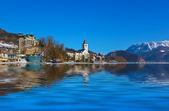 Village St Wolfgang on the lake Wolfgangsee - Austria