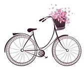 Kolo s košíkem květin a motýlů