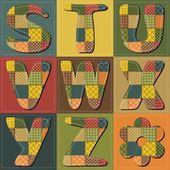 Patchwork scrapbook alphabet part 1 vector illustration