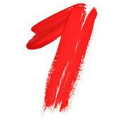 červeně psané číslice