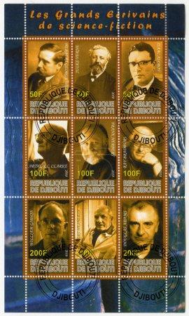 Постер, плакат: DJIBOUTI 2010: shows writers science fiction, холст на подрамнике