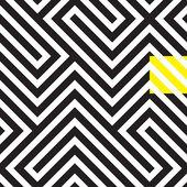 Black and white rhythmic seamless pattern