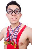 Legrační zápasník s vítěze zlaté medaile
