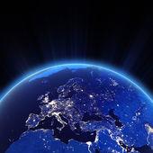 Evropa město světel v noci