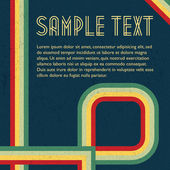 Abstract grunge retro vector background with colorful stripes and text area
