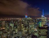 Wundervolle Nacht Farben und Licht von Manhattan, New York city