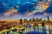 Krásná světla tower bridge v Londýně