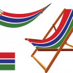 Постер, плакат: Gambia hammock and deck chair set