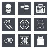 Icons for Web Design and Mobile Applications set 28 Vector illustration