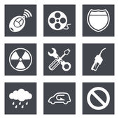 Icons for Web Design and Mobile Applications set 37 Vector illustration