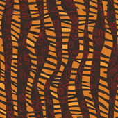 African style seamless pattern with wild animals skins and ancient tribal symbols