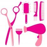 Постер, плакат: Flat hairdressing tools