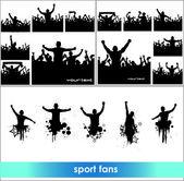 Sada představuje od fanoušků pro sportovní mistrovství a hudební koncerty. chlapci a dívky