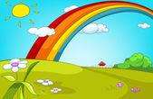 Forest Glade Cartoon Background Vector Illustration EPS 10
