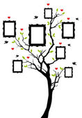 Family tree with picture frames vector background illustration