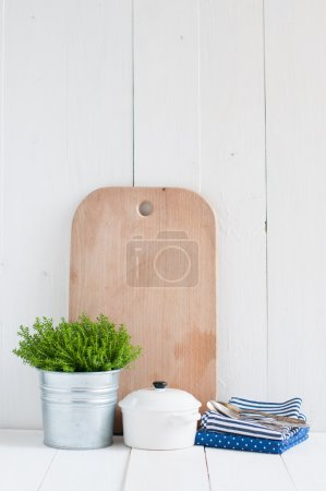 Постер, плакат: Country kitchen decoration, холст на подрамнике