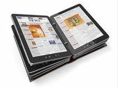 Noviny nebo časopis z počítače tablet pc