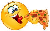 Emotikony, jíst pizzu