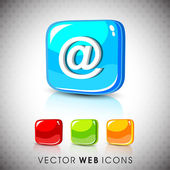 Glossy 3D web 20 email address 'at' symbol icon set EPS 10