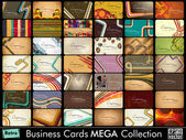 Mega collection of 42 abstract professional and designer business cards or visiting cards on diffrent topic arrange in horizontle EPS 10