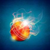 Abstrakt Sport-Konzept mit glänzend Cricketball auf Welle TERGRU