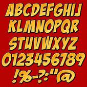 Comics style alphabet collection set