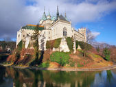 Famous Bojnice castle in autumn