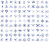 Collection of 99 vector snowflakes