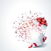 Otevřít dárek s fireworks z konfety