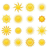 Set of sun. Vector