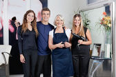 Team Of Hair Stylists In Salon