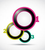 Abstract colorful 1 2 3 option circles vector illustration