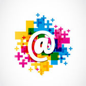 Colorful Positive Email Design Abstract Vector Background