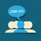 Join Us Social Media Group Vector Background
