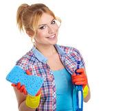 žena čištění