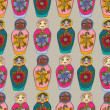 Постер, плакат: Seamless russian Dolls pattern
