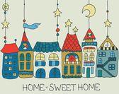 Sladký domů pozadí