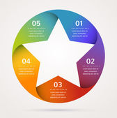 Star design and infographics, abstract background, icon