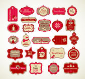 Christmas set - labels tags and decorative graphic elements
