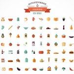Постер, плакат: Cooking & Backing flat icons Kitchenware elements
