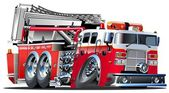 Vector Cartoon Fire Truck Lowroder Available AI-10 vector format separated by groups and layers for easy edit
