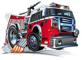 Vector Cartoon Fire Truck Hotrod Available AI-10 vector format separated by groups and layers for easy edit
