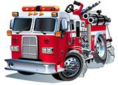Vector cartoon firetruck Available AI-10 vector format separated by groups and layers for easy edit